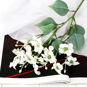 """Artificial flowers """"flax flowers"""" 4x45 cm, white"""
