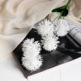 "Artificial flowers ""Clover"" 6x70 cm, white"