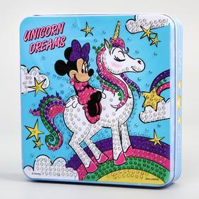Шкатулка для декорирования стразами «Минни Маус», Disney 14 x 13,6 см