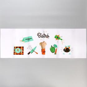 "Sticker on the tile ""Bistro"" 30x90 cm"