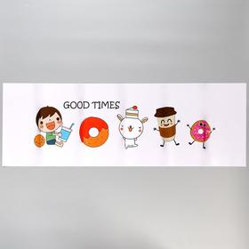 """Sticker on the tile """"Donuts"""" 30x90 cm"""