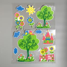 "EVA sticker ""Castle in the forest"" 79x49 cm"