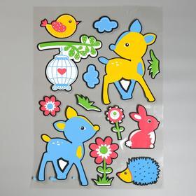 "EVA sticker ""Fawns on the lawn"" 79x49 cm"