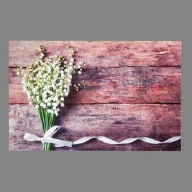 """Photophone vinyl """"lilies of the valley and boards"""" 80x125 cm"""