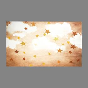 "Photophone vinyl ""Clouds with Golden stars"" 90x150 cm"