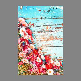 "Photophone vinyl ""Gerberas on blue boards"" 80x125 cm"