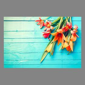 "Photophone vinyl ""Lilies on blue boards"" 80x125 cm"