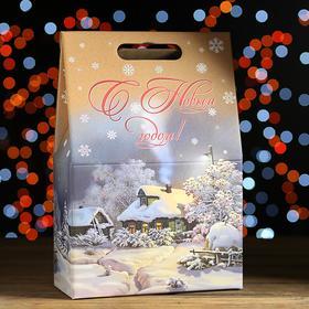 "Новогодний подарок ""Зимний вечер"" картонная упаковка, 2000 г"