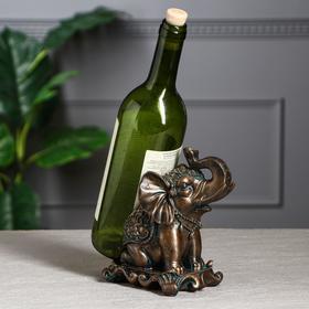 """Подставка под бутылку """"Индийский слон"""", бронзовый цвет"""