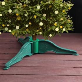 Подставка для искусственной ёлки (d=2 см), малая, d=50 см, цвет тёмно-зелёный