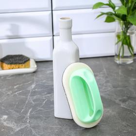Щётка абразивная с пластиковым держателем Доляна, 8,5×7×14 см - фото 4646229