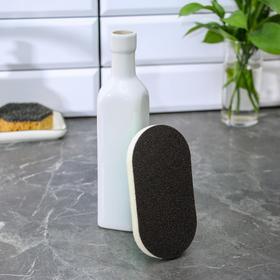 Щётка абразивная с пластиковым держателем Доляна, 8,5×7×14 см - фото 4646230