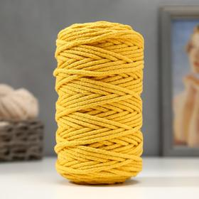 Cord for knitting 100% cotton, width 5 mm 100m / 450gr (Mustard)