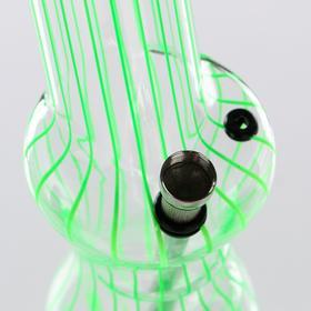 """Бонг большой """"Изгибы"""" с наклонной трубкой, микс, 33 см"""