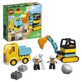 Конструктор Lego DUPLO «Грузовик и гусеничный экскаватор»