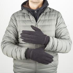 Перчатки мужские, размер 10, без утеплителя, цвет чёрный