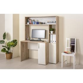 Стол компьютерный Комфорт 12.74, 1267х602х1654, Дуб серый/Шелковый камень