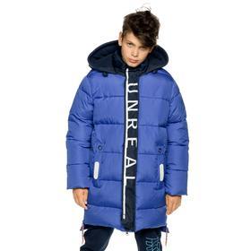 Куртка для мальчиков, рост 122 см цвет синий