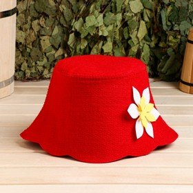 """Набор банный портфель сумка красная шапка,коврик,рукавица """"Рэд"""" - фото 7318007"""
