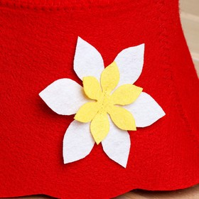 """Набор банный портфель сумка красная шапка,коврик,рукавица """"Рэд"""" - фото 7318008"""