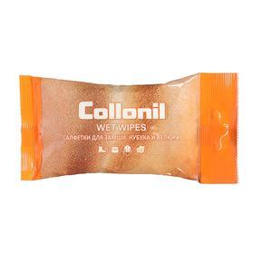 Салфетки влажные Collonil для ухода за изделиями из замши, нубука и велюра, 15 шт
