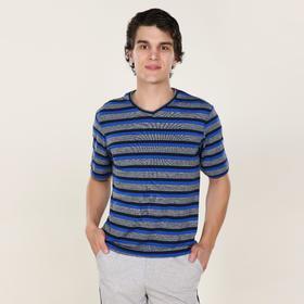 Футболка мужская «Марвин», цвет синий, размер 48