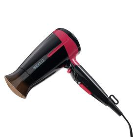 Фен KELLI KL-1120, 1800 Вт, 2 температурных режима, черно-розовый