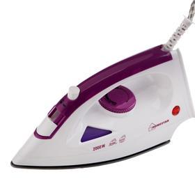 Утюг HOMESTAR HS-4001, 2000 Вт, тефлоновая подошва, пар, фиолетовый