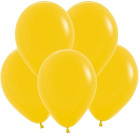 """Шар латексный 12"""", пастель, набор 50 шт., цвет тёмно- жёлтый"""