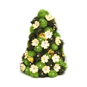 Ёлочка своими руками из сизаля «Рождество» жёлто- зелёная
