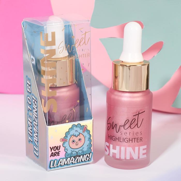 Жидкий хайлайтер для лица и тела Llamazing, оттенок №1, розовое настроение, 20 мл