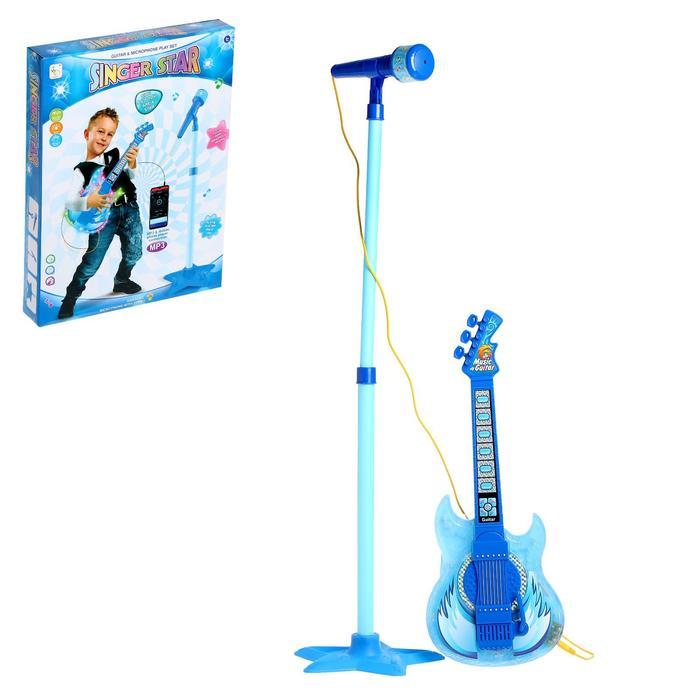Игрушка музыкальная «Гитара рок-н-ролл 2», с микрофоном, звуковые эффекты - фото 642319