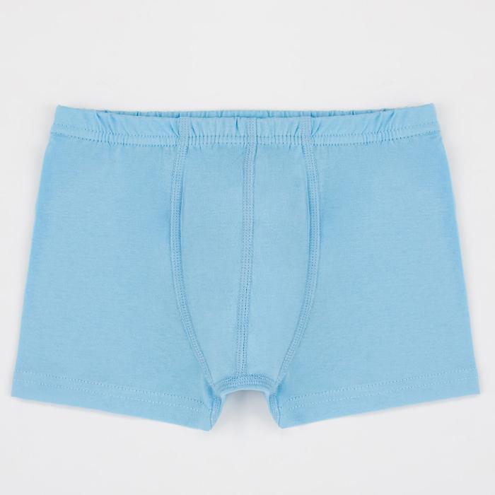 Трусы боксеры для мальчика, цвет голубой, рост 146 см (36) - фото 1938865