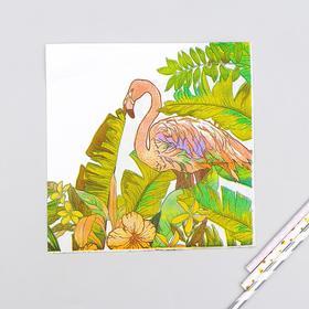 Салфетки бумажные «Фламинго», 33х33 см, набор 20 шт.