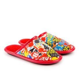 Тапочки детские, цвет красный, размер 33