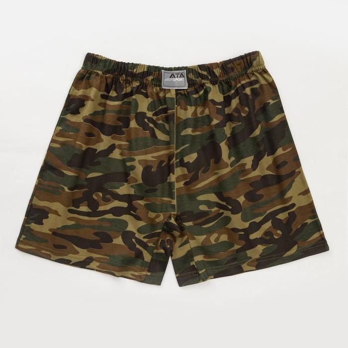 Трусы мужские шорты, цвет камуфляж, размер 50-52 - фото 3634525