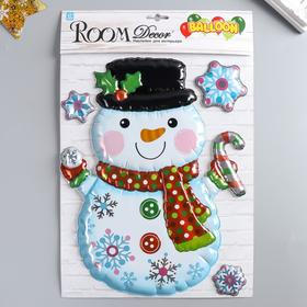 "Объёмная наклейка Room Decor ""Снеговик"" 27х35 см"