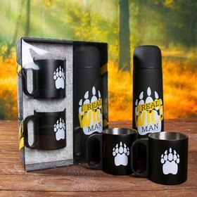 "A set of ""Real wild"", the flask 500 ml, mug 2 PCs"