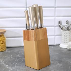 Набор ножей ALOMI, лезвие: 8,5 см, 12 см, 20 см, 20 см, 20 см, цвет золотой