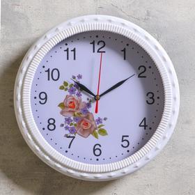 """Часы настенные """"Лавеси"""" d=26 см, плавный ход, микс"""