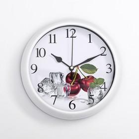"""Часы настенные """"Эстер"""" d=20 см, плавный ход, микс"""