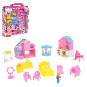 Дом для кукол, с фигурками, с аксессуарами, МИКС