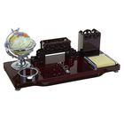 Набор настольный «Барокко»: глобус, подставка для ручек, визитница, блок для бумаги с листами, держатель, лоток для скрепок