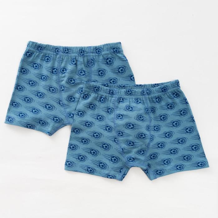 Комплект трусов для мальчика (2 шт.), цвет серый/мячи, рост 146-152 см - фото 76643528