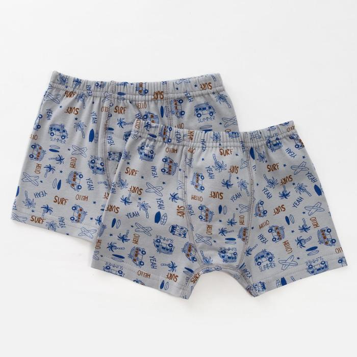Комплект трусов для мальчика (2 шт.), цвет серый, рост 146-152 см - фото 76643552