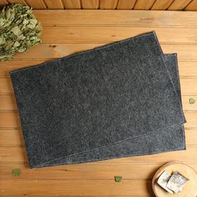 """Коврик для бани и сауны """"Царский размер"""", 160×50 см, чёрный"""