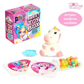 WOOW TOYS Sweet toy box Surprise toy and candy, unicorn