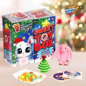 Игрушка сюрприз Sweet toy box, конфеты, новогодний зайка