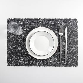 Набор салфеток кухонных «Соломка», 30×45 см, 4 шт, цвет чёрный