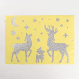 """Paper sticker """"Deer"""", with sequins, 21 x 29.7 cm"""